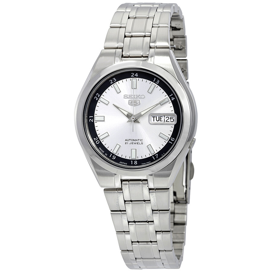 Seiko Quartz Sur151p1 Silver Dial Jam Tangan Pria Sur151 Daftar Alba Axnd55x1 Black Stainless Axnd55 Bisa Couple Snzf03 Source Series 5 Automatic Date