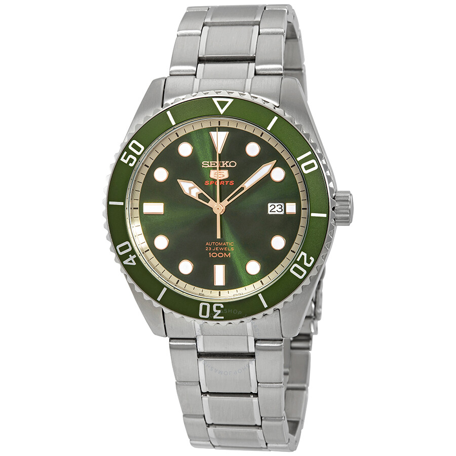 Seiko Series 5 Automatic Green Dial Men S Watch Srpb93