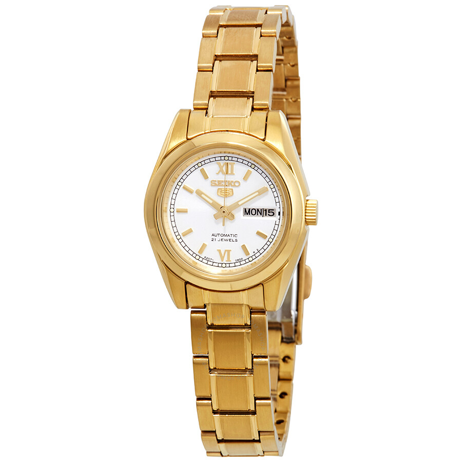 Seiko Series 5 Automatic White Dial Ladies Watch Symk30