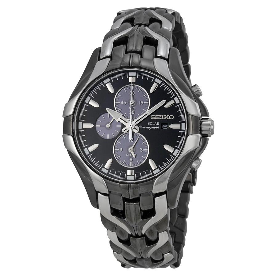 seiko solar chronograph black dial stainless steel men s watch seiko solar chronograph black dial stainless steel men s watch ssc139