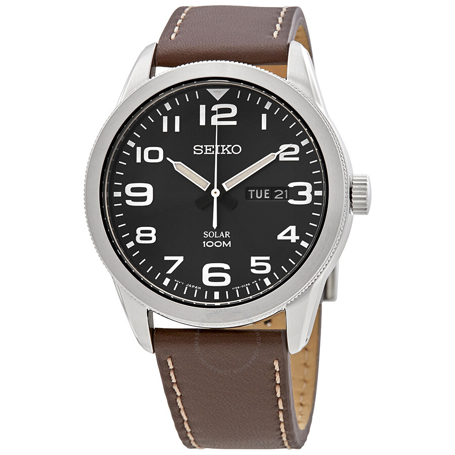 Seiko solar dark blue dial men 39 s watch sne475p1 solar seiko watches jomashop for Seiko solar