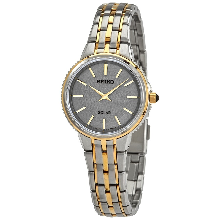 Seiko Solar Grey Dial Ladies Watch Sup410 Solar Seiko
