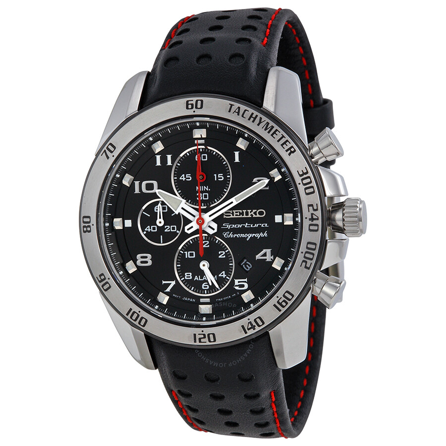 Seiko Sportura Chronograph Alarm Men's Watch SNAE65 ...