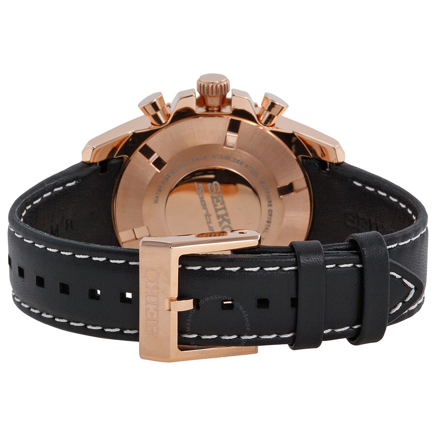 seiko sportura solar chronograph black dial black leather strap men 39 s watch ssc274 solar ForBlack Leather Strap Men