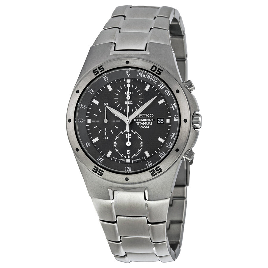 seiko titanium chronograph men 39 s watch snd419 titanium seiko watches jomashop