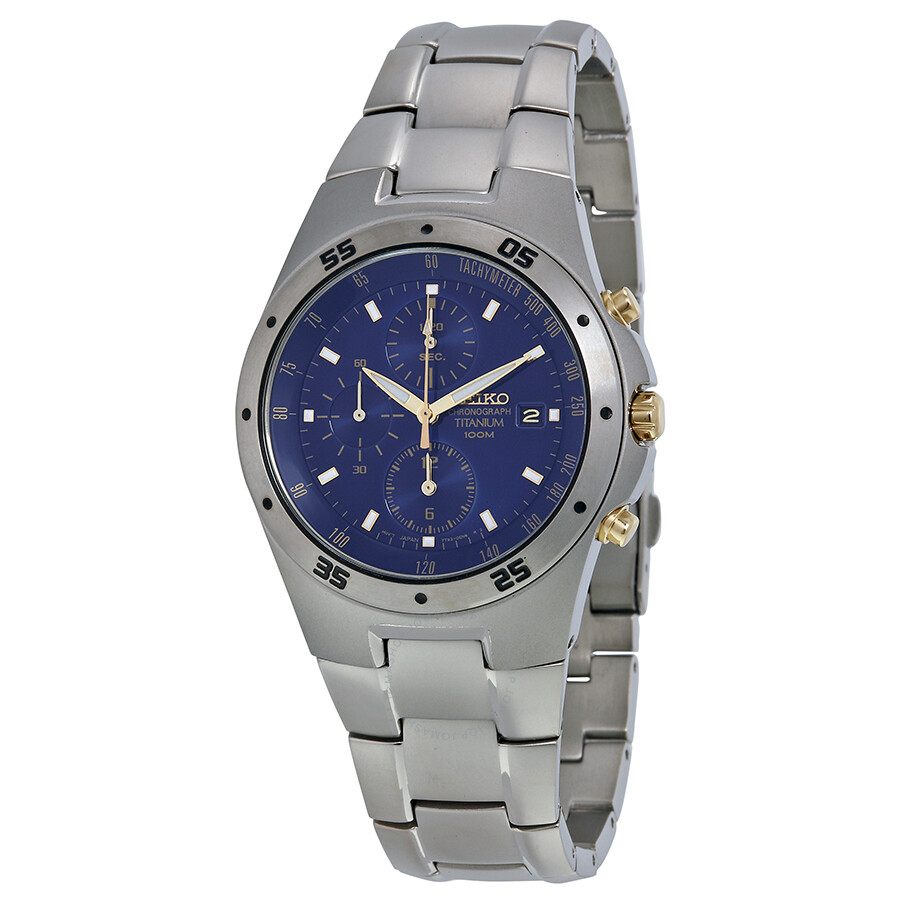 Seiko titanium chronograph men 39 s watch snd449 titanium seiko watches jomashop for Titanium watches