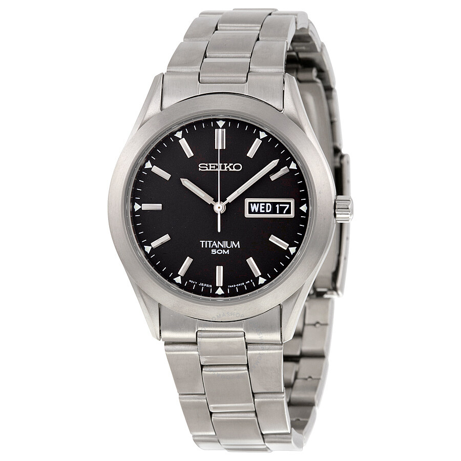 Seiko titanium men 39 s watch sgg707 titanium seiko watches jomashop for Titanium watches