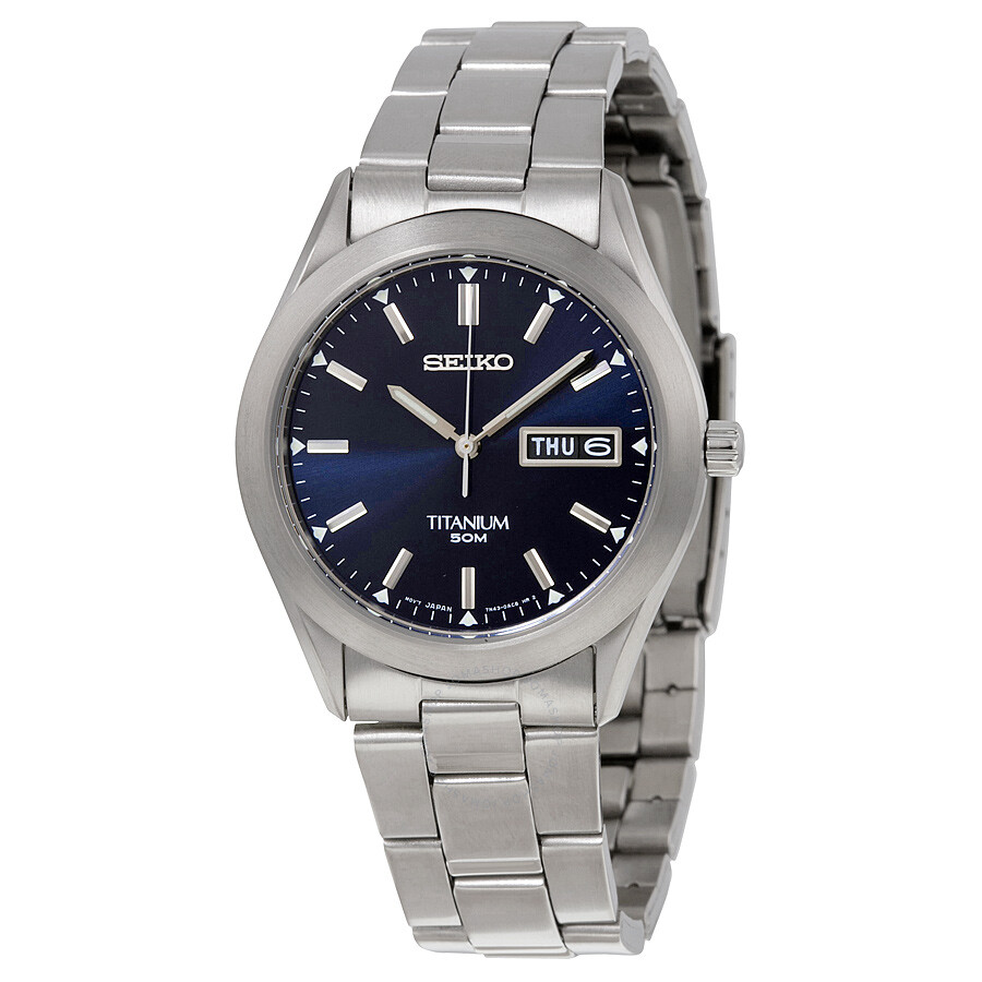 Seiko titanium men 39 s watch sgg709 titanium seiko watches jomashop for Titanium watches