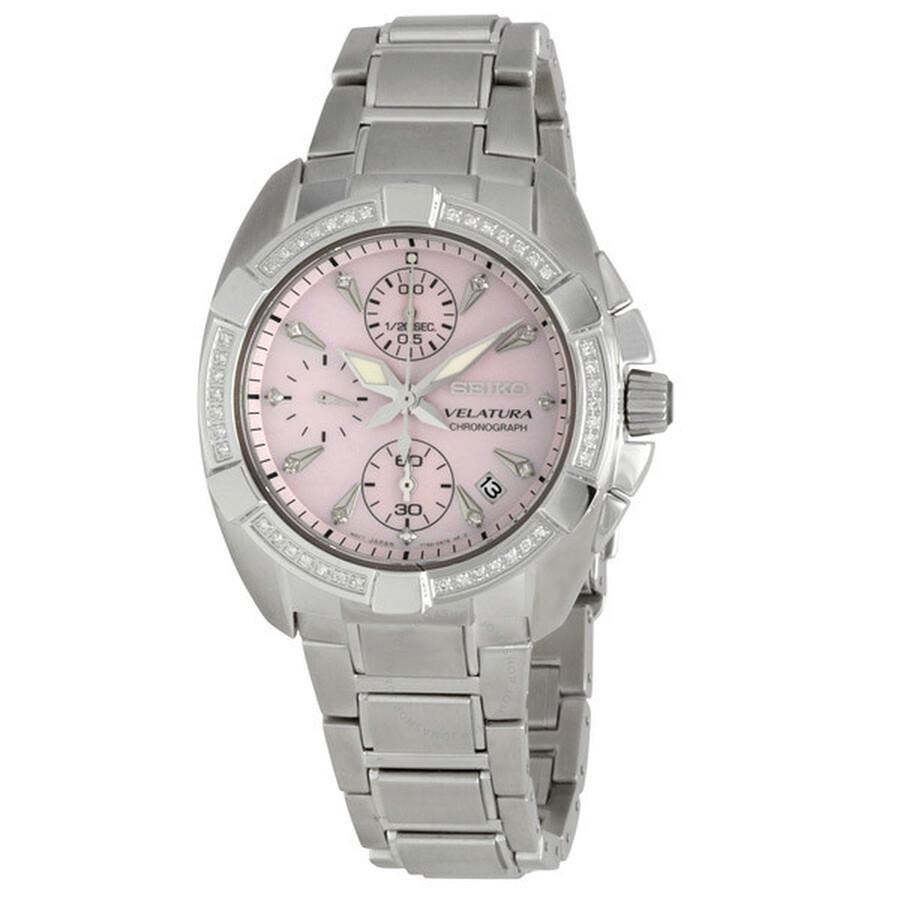 2901ea2728e8 Seiko Velatura Chronograph Diamond Ladies Watch SNDZ37P1 - Velatura ...