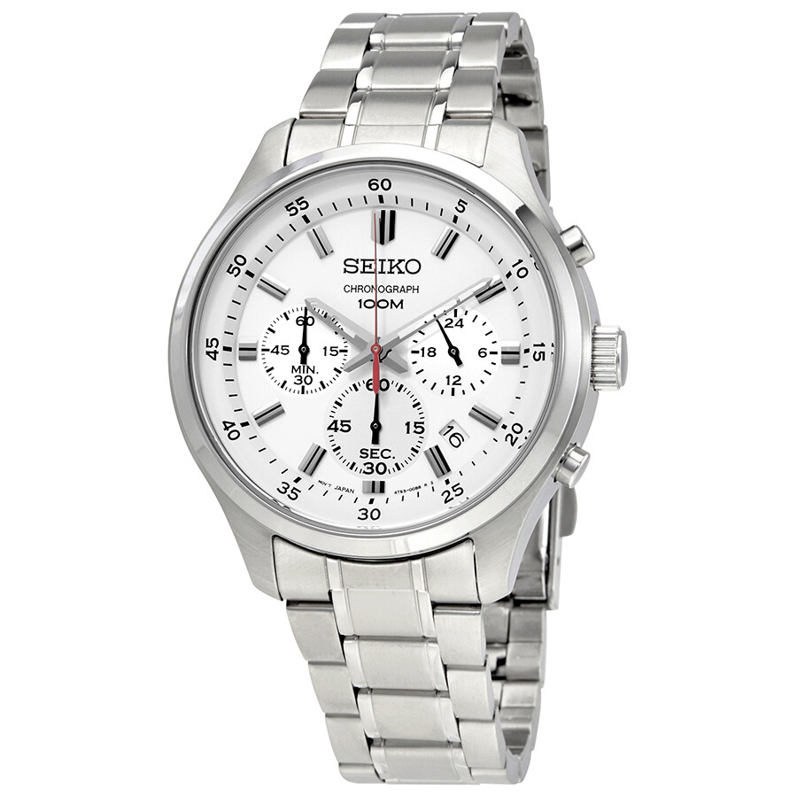 Seiko White Dial Men's Chronograph Watch Sks583  Seiko. Beautiful Engagement Rings. Diamond Stud Necklace. Terracotta Pendant. Lady Chains. Stylish Watches. Glass Brooch. Zuni Necklacebaroque Pearls. Cobalt Earrings