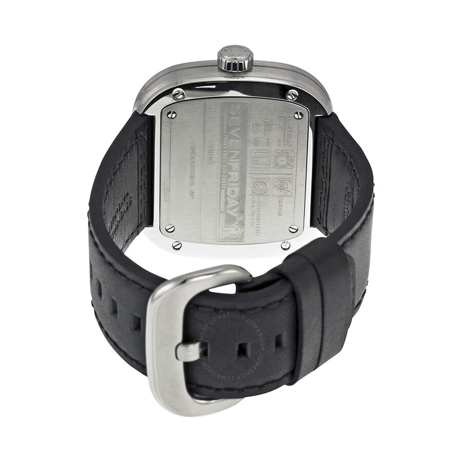 Sevenfriday Industrial Essence Silver And Black Dial Automatic Mens P1b Watch P1 1
