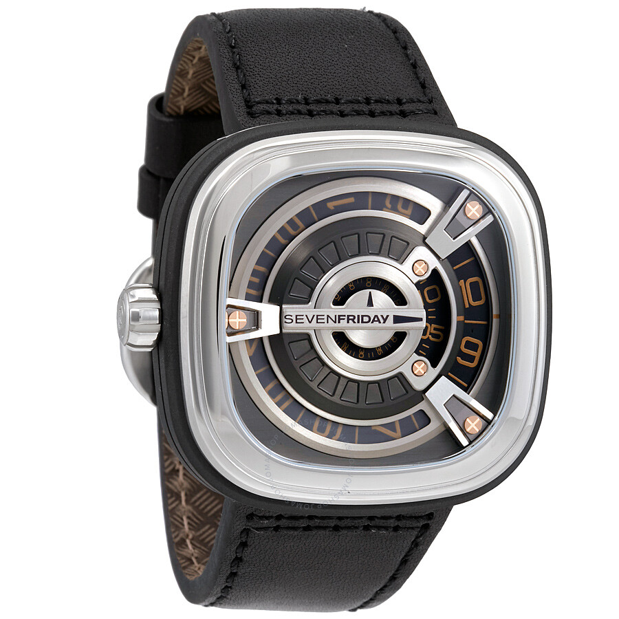 Sevenfriday m series automatic gunmetal dial men 39 s watch m1 03 sevenfriday watches jomashop for Sevenfriday watches