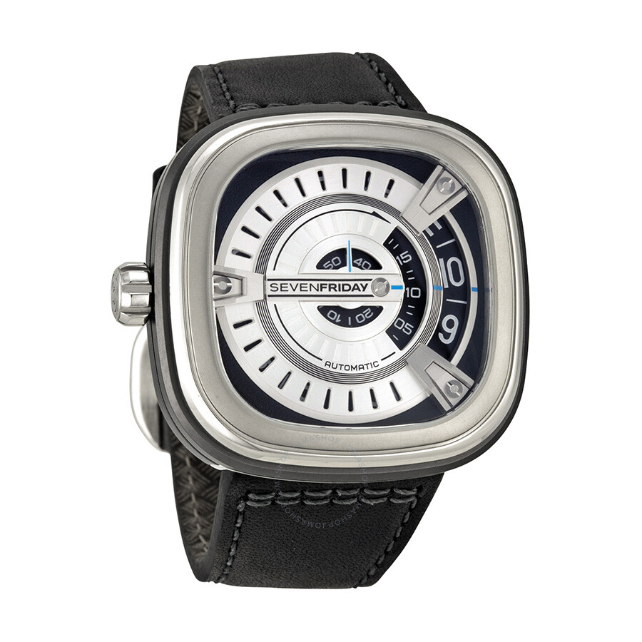 Sevenfriday m series silver dial black rubber automatic men 39 s watch m1 sevenfriday watches for Sevenfriday watches