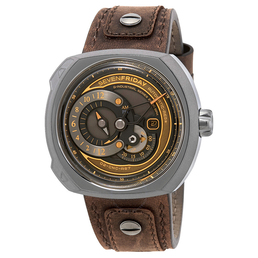 Sevenfriday q series automatic brown dial men 39 s watch q2 03 sevenfriday watches jomashop for Sevenfriday watches