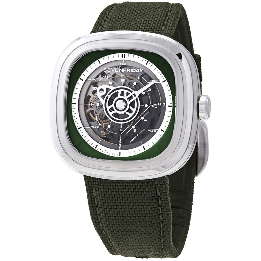 Sevenfriday T-Series Gradient Green Transparent Automatic Men's Watch