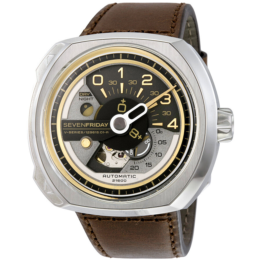 Sevenfriday v series brown leather men 39 s v2 1 sevenfriday watches jomashop for Sevenfriday watches