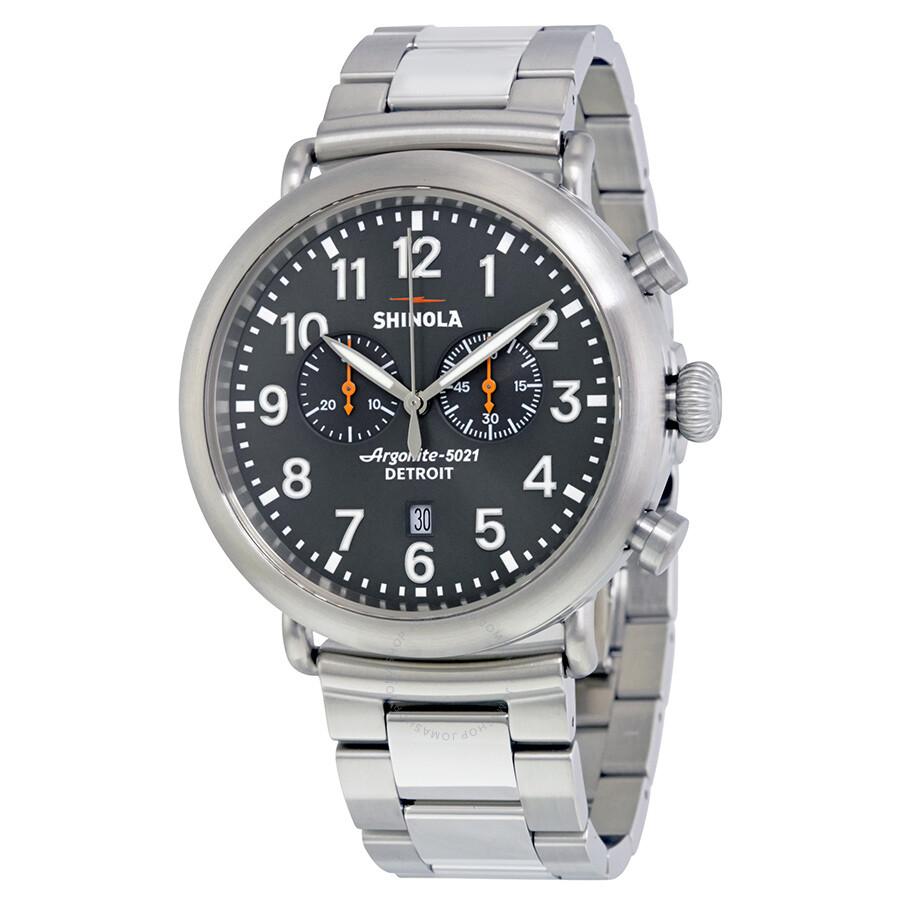 Shinola the runwellchrono cool gray dial men 39 s watch 20001117 the runwell chrono shinola for Shinola watches