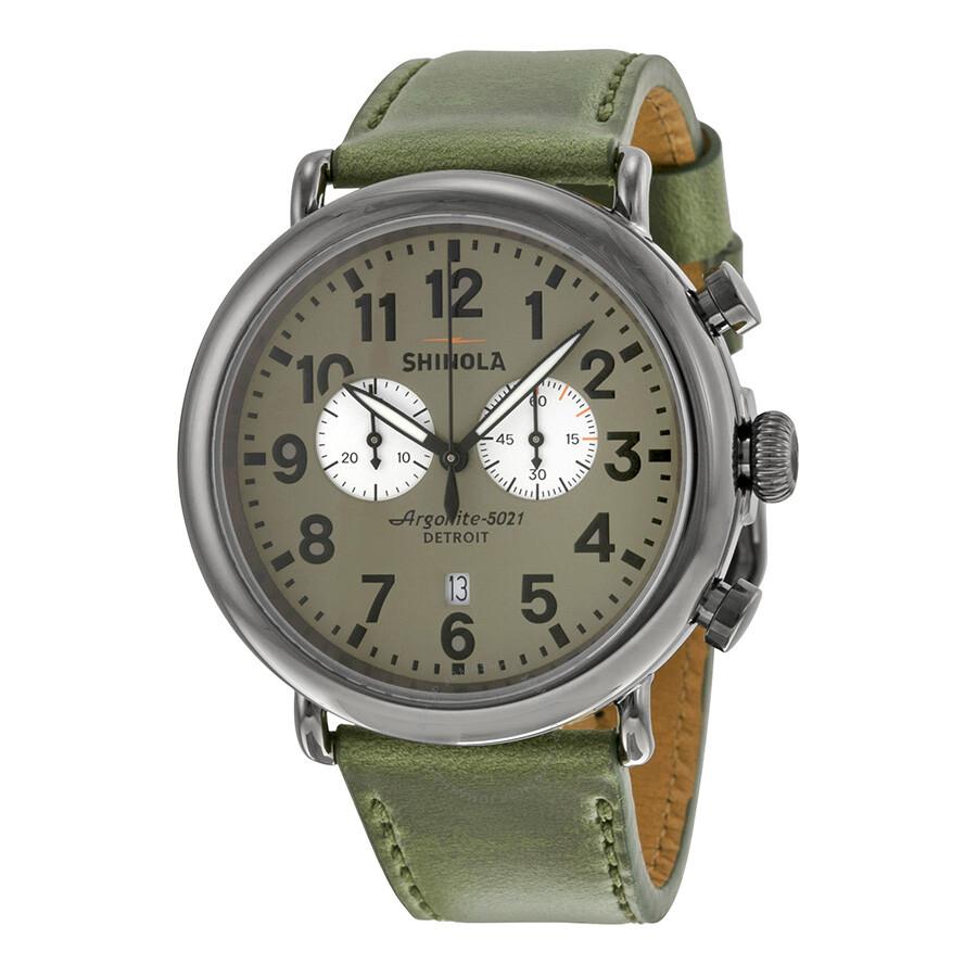 Shinola runwell chronograph warm grey dial leather watch 11000173 shinola watches jomashop for Shinola watches