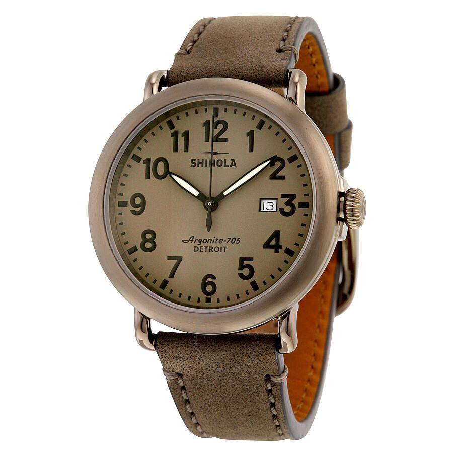 Shinola runwell warm grey dial heather grey leather men 39 s watch 11000177 the runwell shinola for Shinola watches