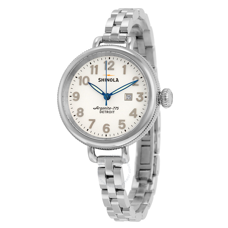 shinola the birdy pearlized white stainless steel