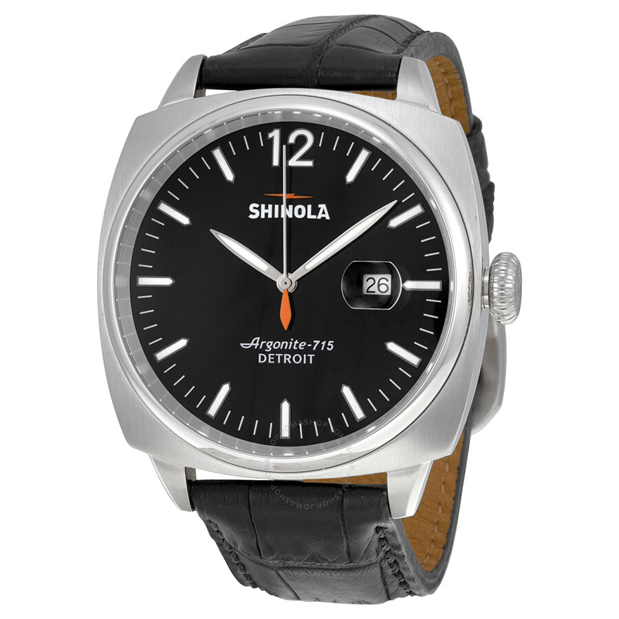 Shinola the brakeman black dial black leather men 39 s watch s0100002 shinola watches jomashop for Shinola watches