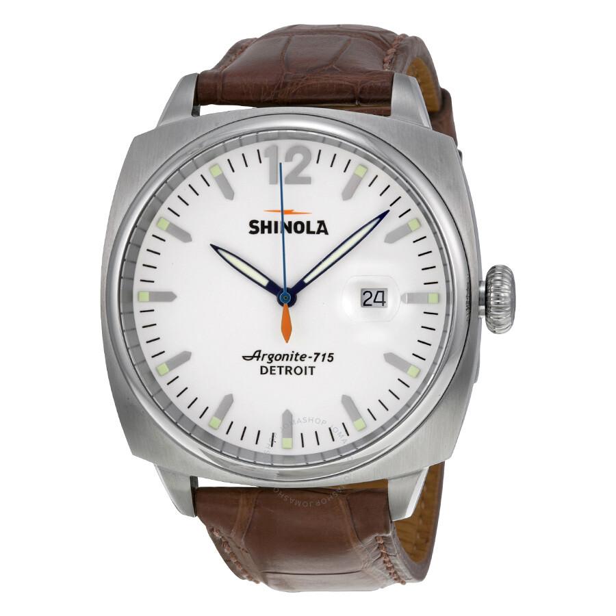 Shinola the brakeman white dial brown leather men 39 s watch s0100003 the brakeman shinola for Shinola watches