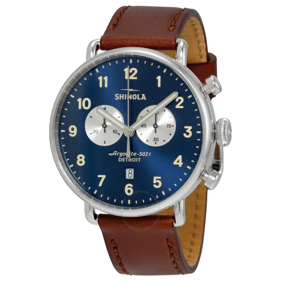 Shinola the canfield chrono midnight blue dial men 39 s watch 12001940 shinola watches jomashop for Shinola watches