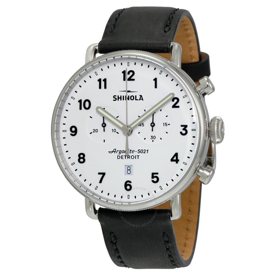 Shinola the canfield chrono white dial men 39 s watch 12001941 shinola watches jomashop for Shinola watches