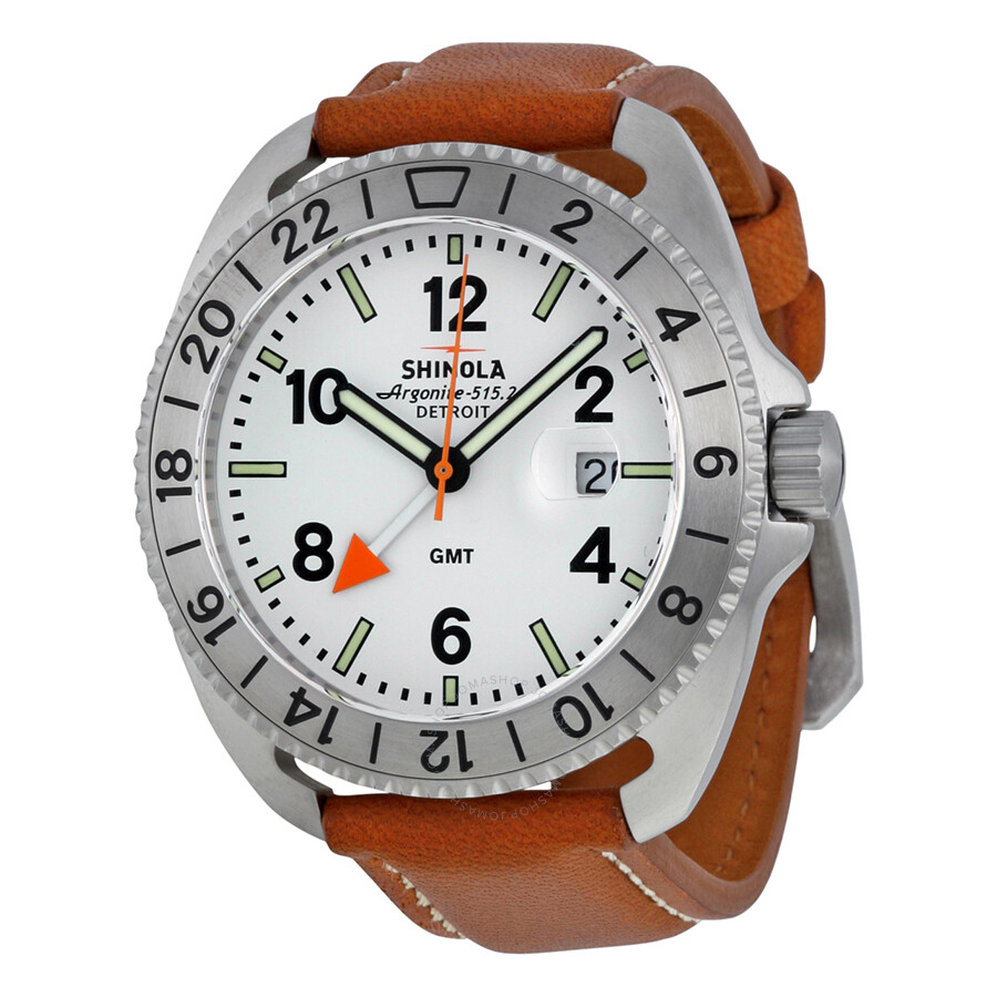 Shinola The Rambler White Dial Natural Leather Men's Watch