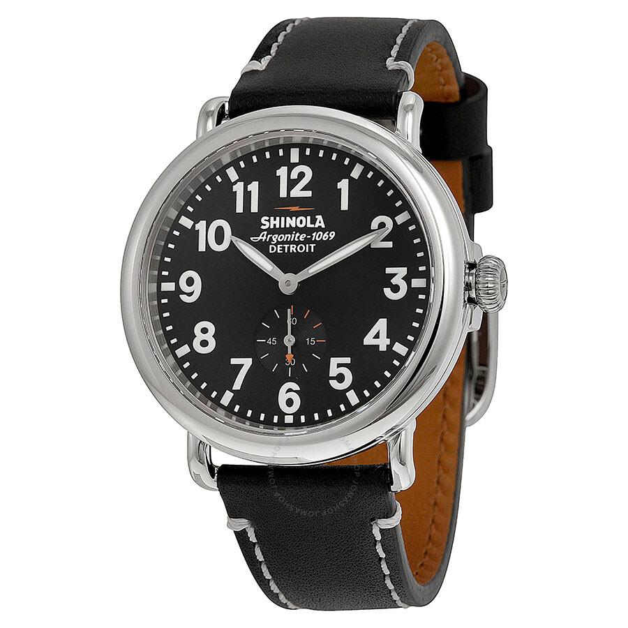 Shinola the runwell black dial leather unisex watch s0100020 the runwell shinola watches for Shinola watches