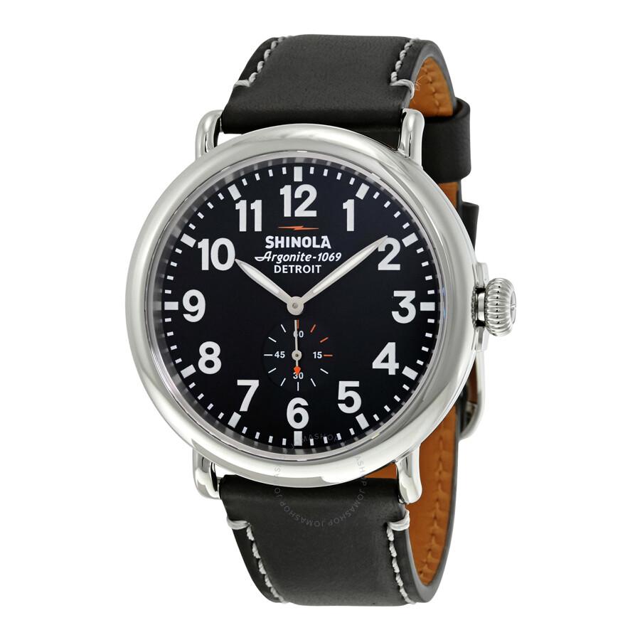 Shinola the runwell black dial men 39 s watch 11000012 the runwell shinola watches jomashop for Shinola watches