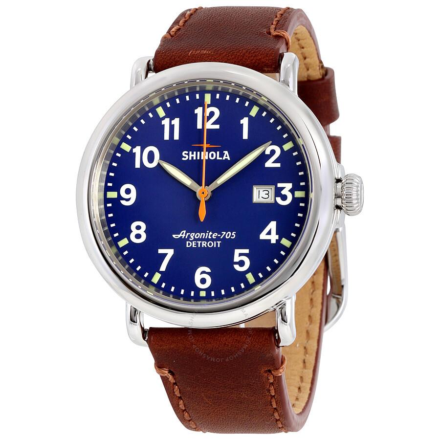 Shinola the runwell blue dial unisex watch s0120002620 the runwell shinola watches jomashop for Shinola watches