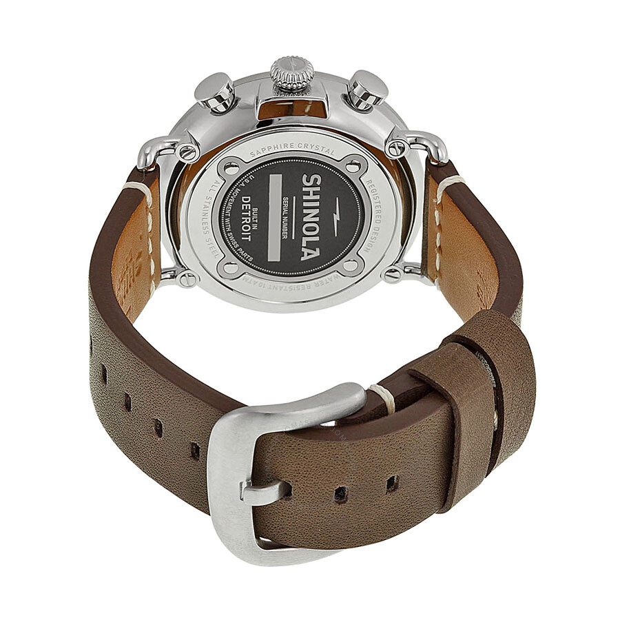75c7f5954 ... Shinola The Runwell Chrono Cream Dial Brown Leather Men's Watch  S0100099 ...