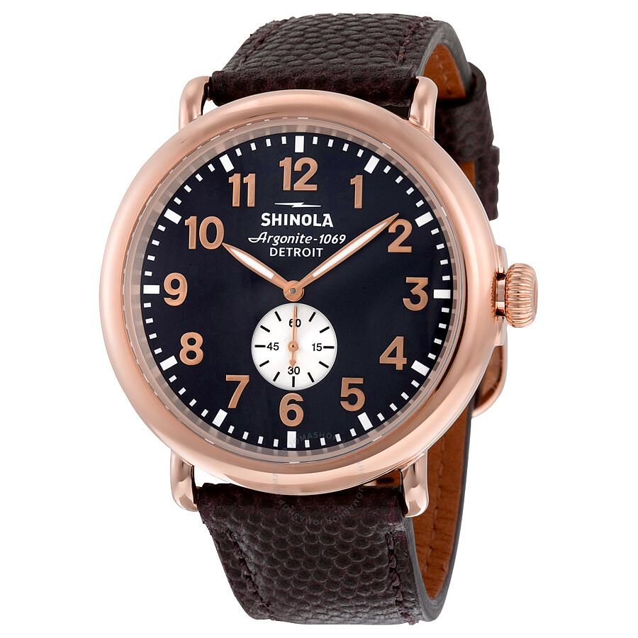 Shinola the runwell mindnight blue dial pvd rose gold men 39 s watch 11000168 the runwell for Shinola watches