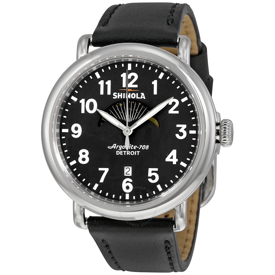 Shinola the runwell moon phase black dial men 39 s watch 12000111 the runwell shinola watches for Shinola watches