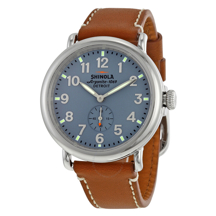 shinola the runwell slate blue dial maple leather unisex watch s0100024 the runwell shinola