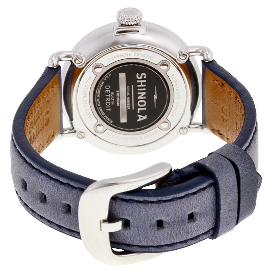 0e5bc5f0b ... Shinola The Runwell Slate Blue Dial Slate Blue Leather Ladies Watch  S0200043
