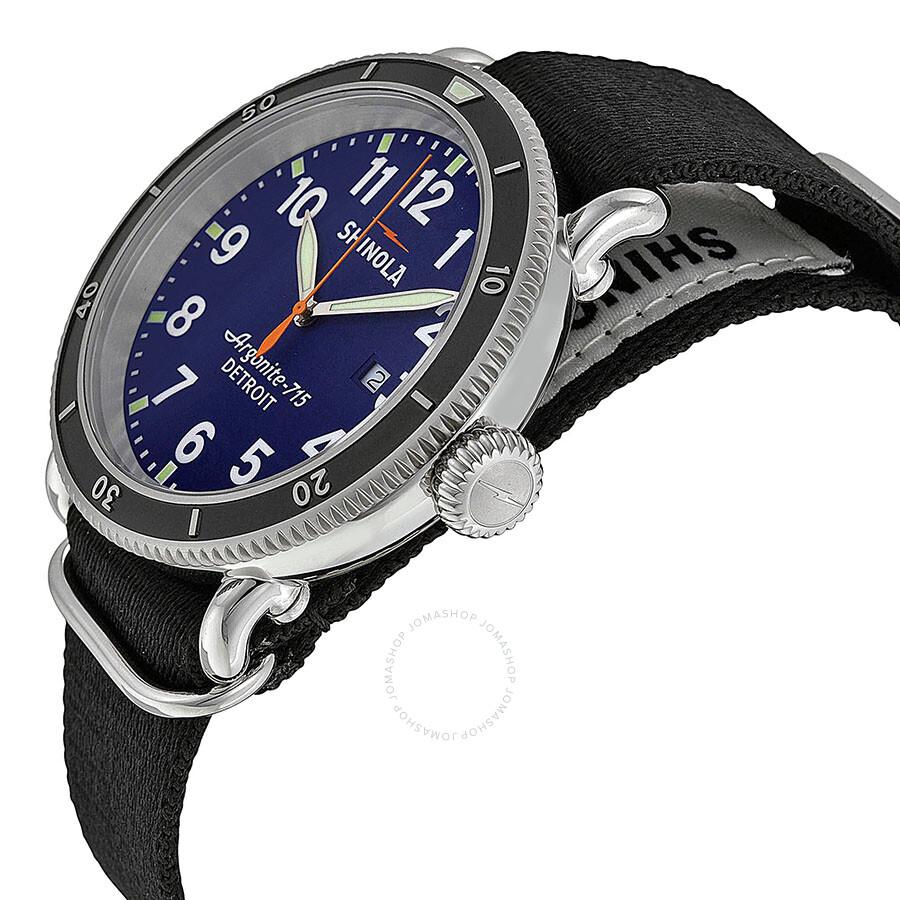7a670dd16 ... Shinola The Runwell Sport Blue Dial Black Nylon Men's Watch S0100085 ...