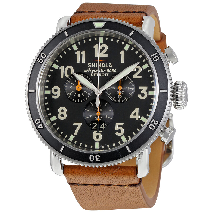 Shinola the runwell sport chrono black dial men 39 s watch 12001115 the runwell chrono shinola for Shinola watches
