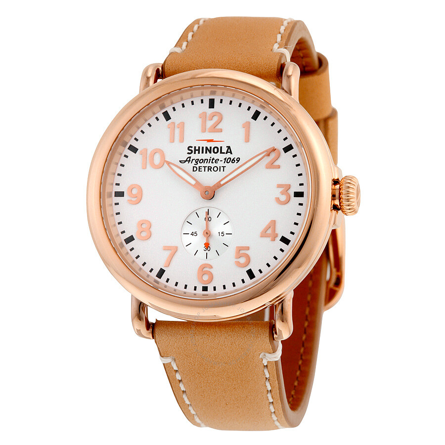 Shinola the runwell white dial rose gold pvd steel unisex watch s0100018 the runwell shinola for Shinola watches