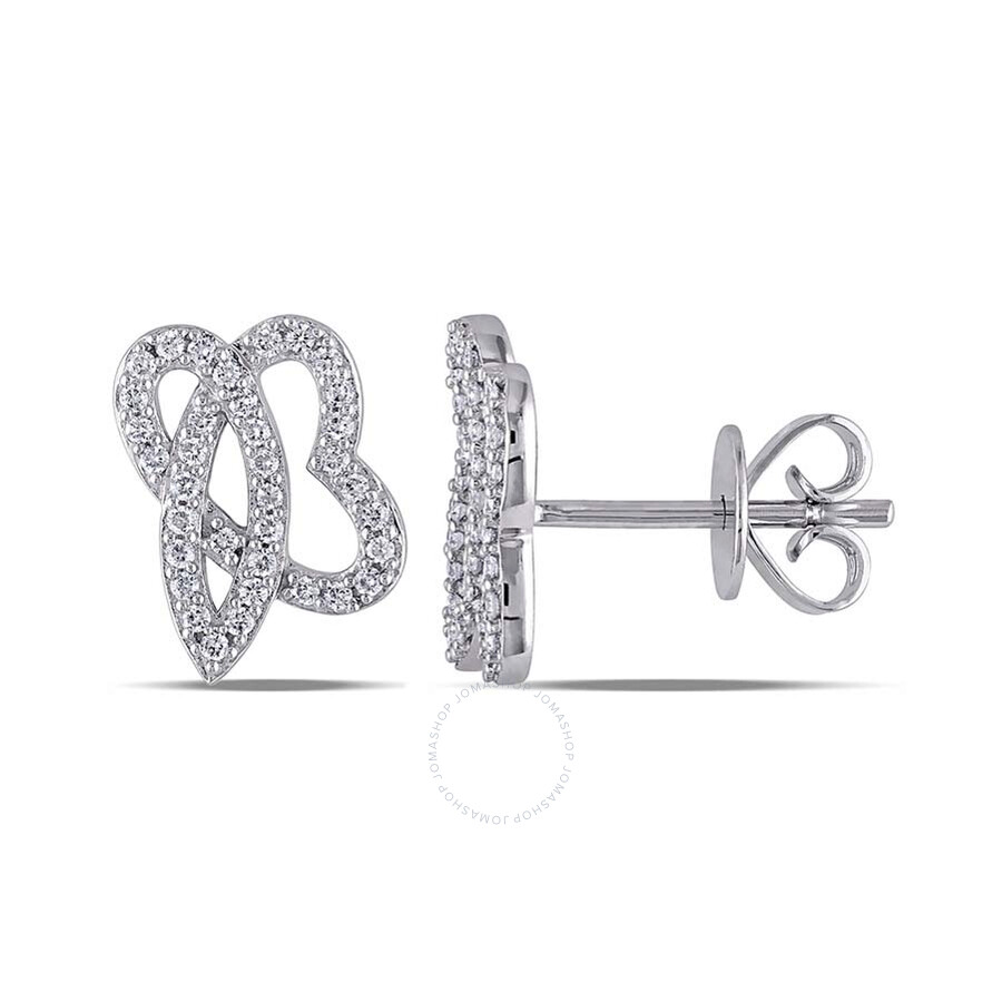 1 5 ct earrings signaturejb 1 5 ct tw ear pin earrings 14k white 8996