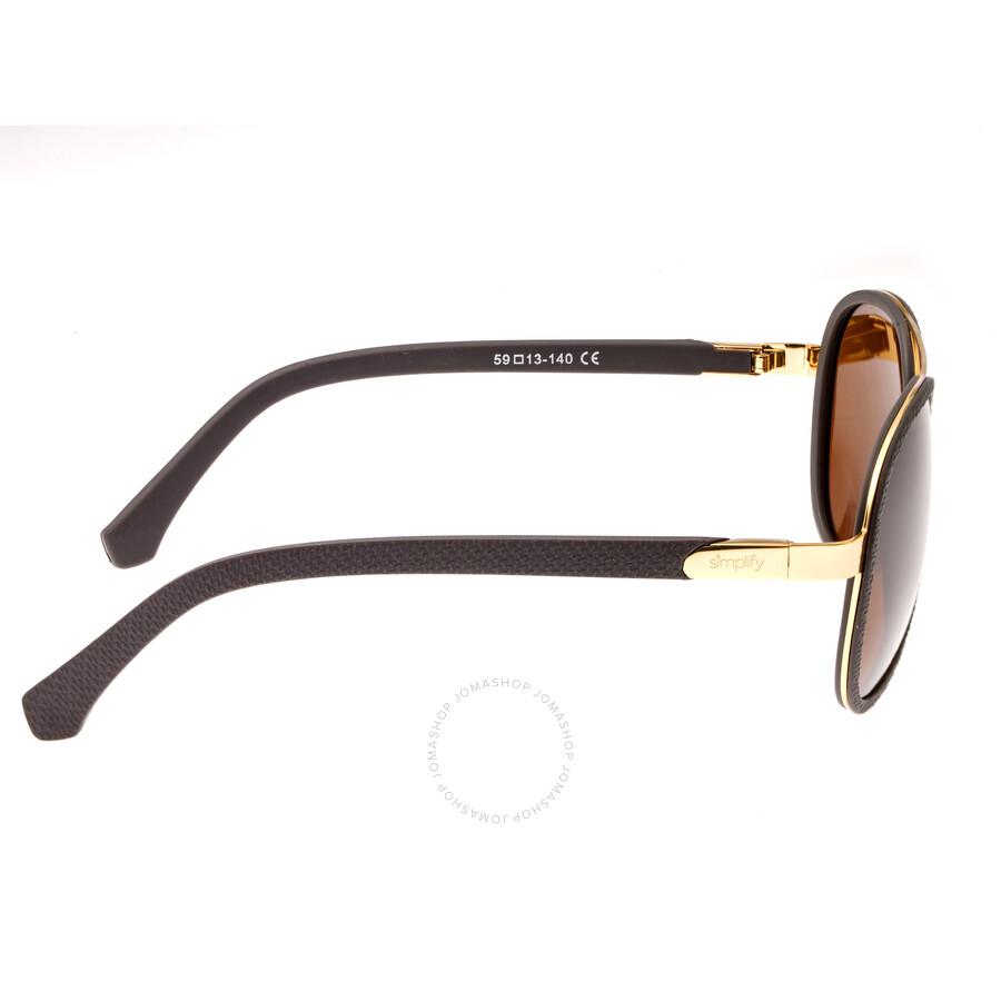 1af2cba27e572 Simplify Stanford Aviator Sunglasses SIM-SSU115-BN - Simplify ...
