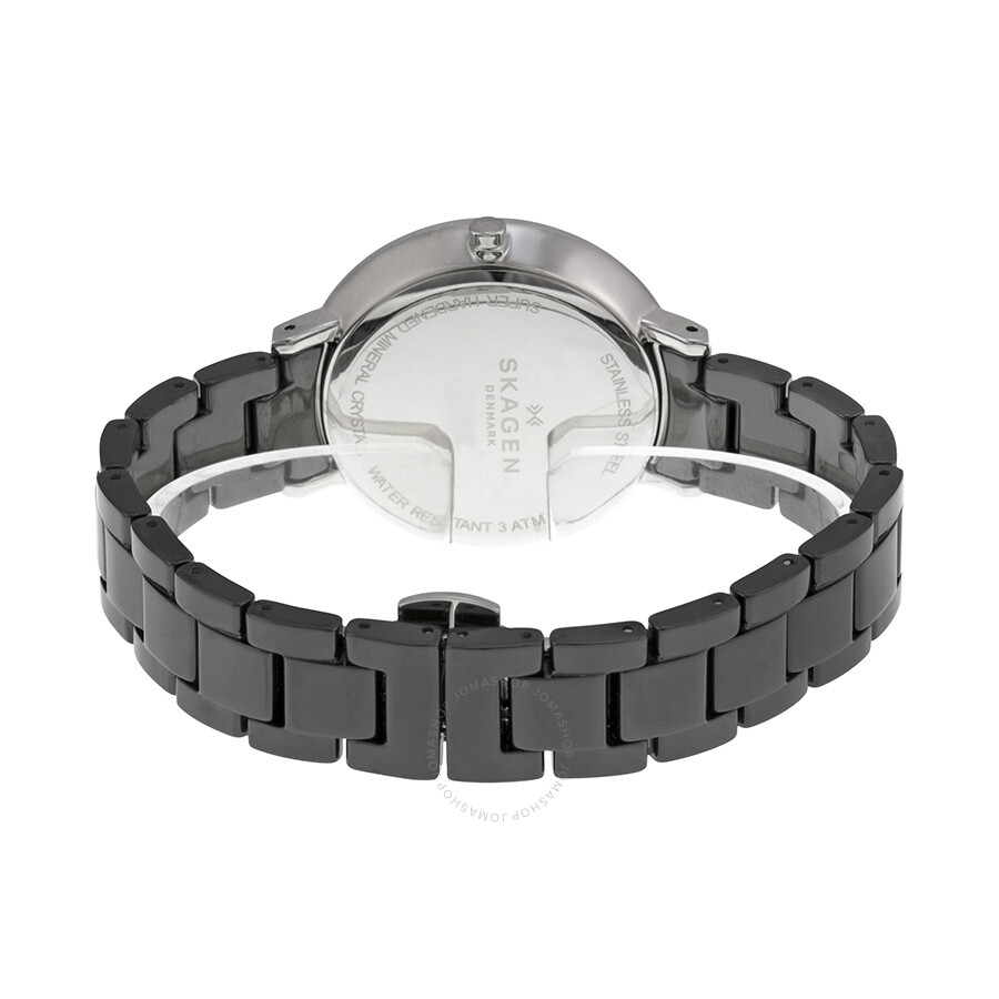 Skagen Ditte Black Dial Black Ceramic Ladies Watch Skw2303