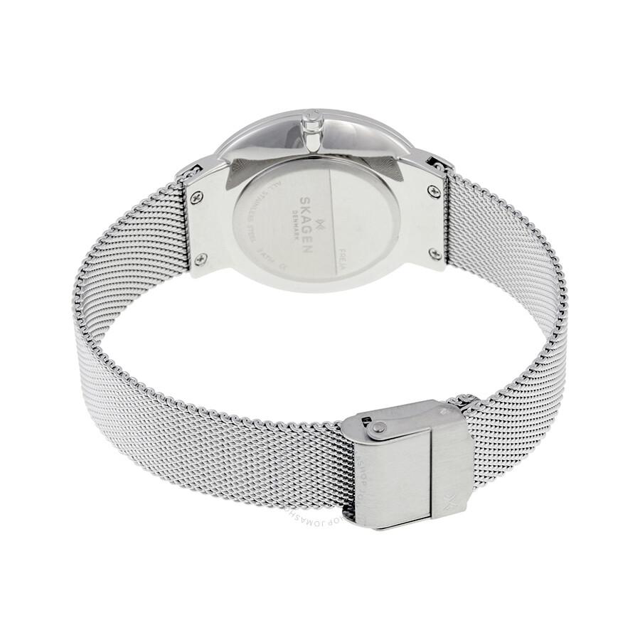 1b27f11c5c Skagen Freja Silver Dial Stainless Steel Ladies Watch SKW2380 ...