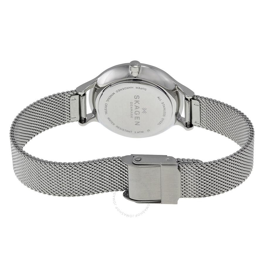 Skagen Women s SKW2319  Anita  Crystal Stainless Steel Watch ... 69306a9ab09