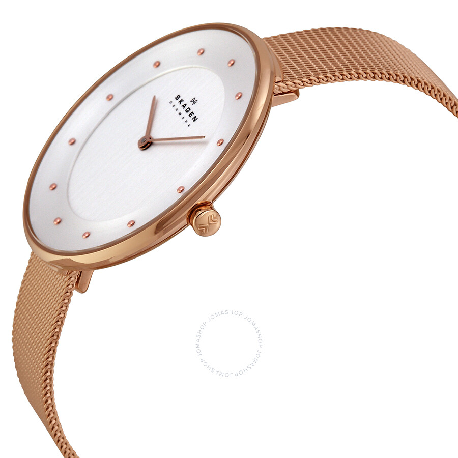 Fossil Gwynn Es4040 Daftar Harga Terupdate Indonesia Jam Tangan Wanita Original Es4116 Chrono Wine Leather Skagen Gitte Silver Dial Rose Gold Tone Stainless Steel Ladies Watch Skw2142
