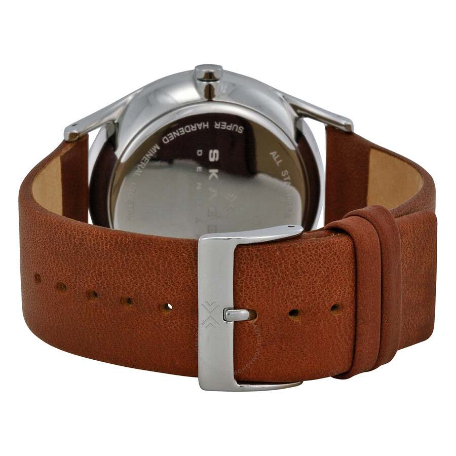 Leather Gmbh Contact Us Email Sales Mail: Skagen Holst Charcoal Dial Brown Leather Men's Watch