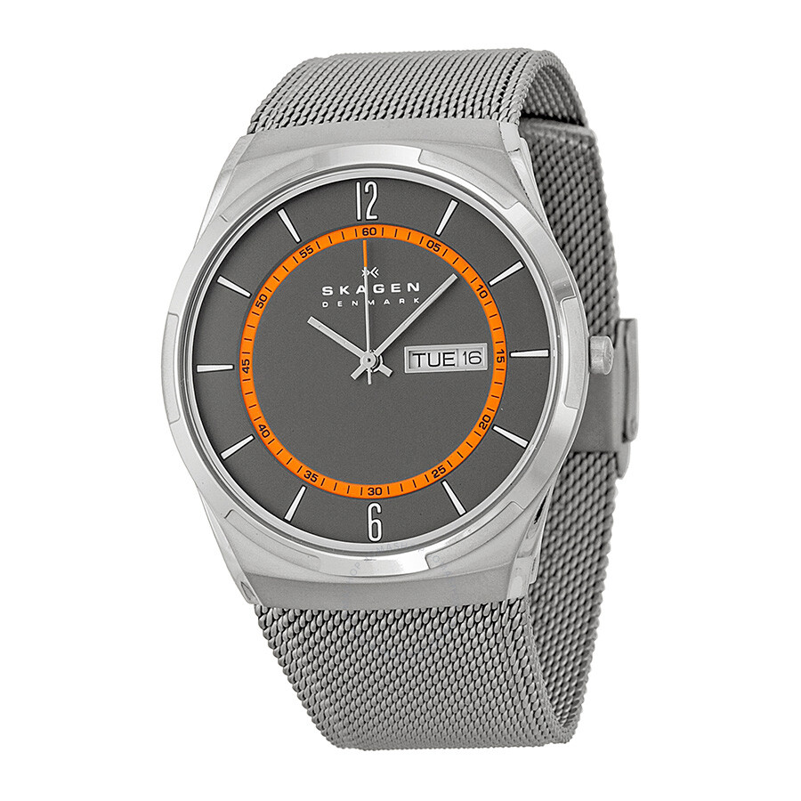 Melbye Men's Mesh Skw6007 Grey Watch Skagen Dial YEWD9H2I