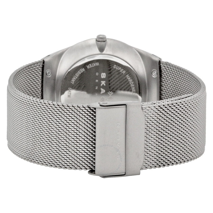 Skagen Melbye Grey Dial Stainless Steel Mesh Men S Watch Skw6078