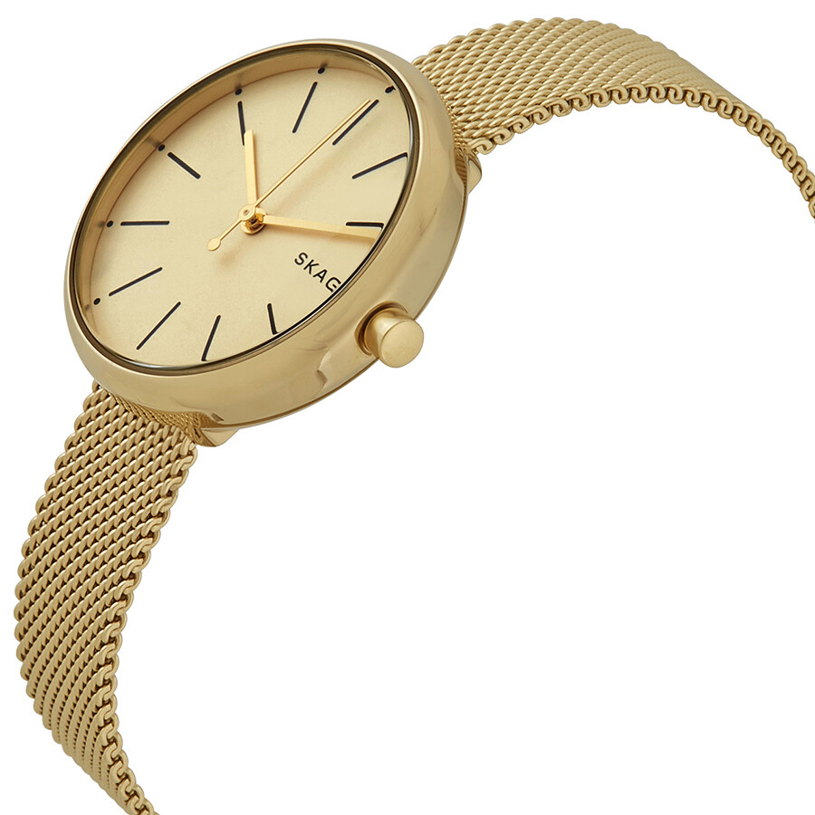 e8573d136e30 Skagen Signature Gold-tone Dial Ladies Mesh Watch SKW2614 - Skagen ...